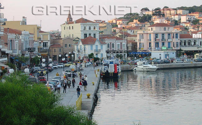 The capital of Lesvos island, Mytilene (Mitilini)